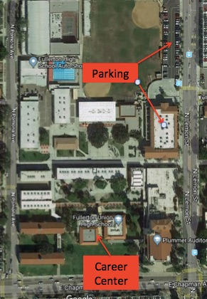 Where to park for rehearsal with the Orange Empire Chorus